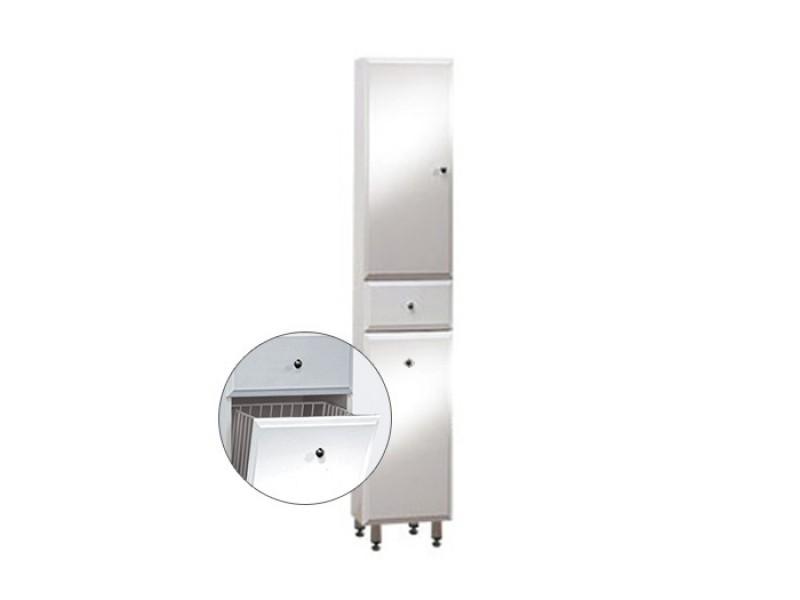 BEATA VK 170 ZV L Well Koupelnová skříňka vysoká plná, závěsná s nožičkami, koš, levá