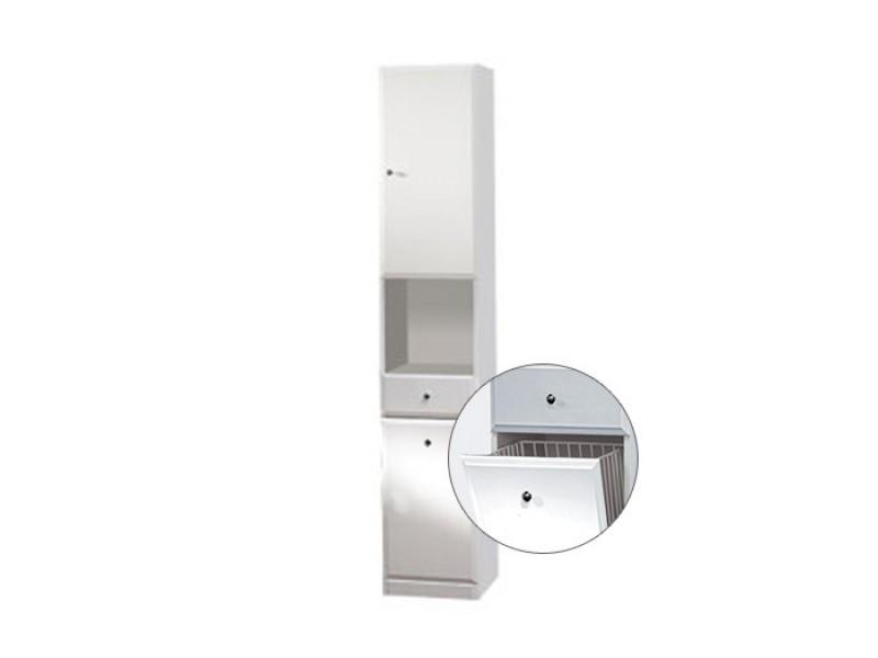 BEATA VK 32 P Well Koupelnová skříňka vysoká, sokl, koš, pravá
