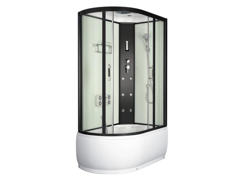 LORAIN 120x80 pravá Well sprchový masážní box + sifon ZDARMA