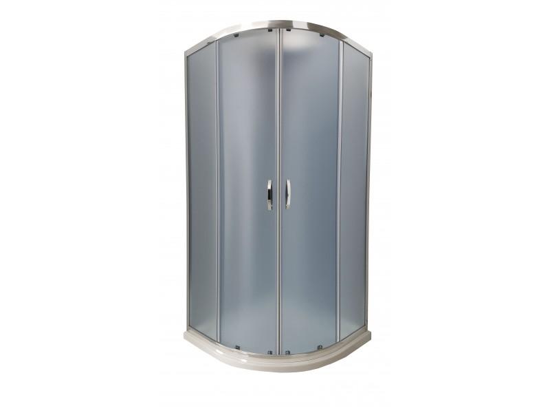 CATANIA 90 matt dark MRAMOR Well sprchový kout s mramorovou vaničkou