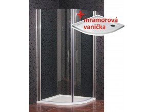 CHESTER 90 Clear ROCKY Well Sprchový kout s mramorovou vaničkou