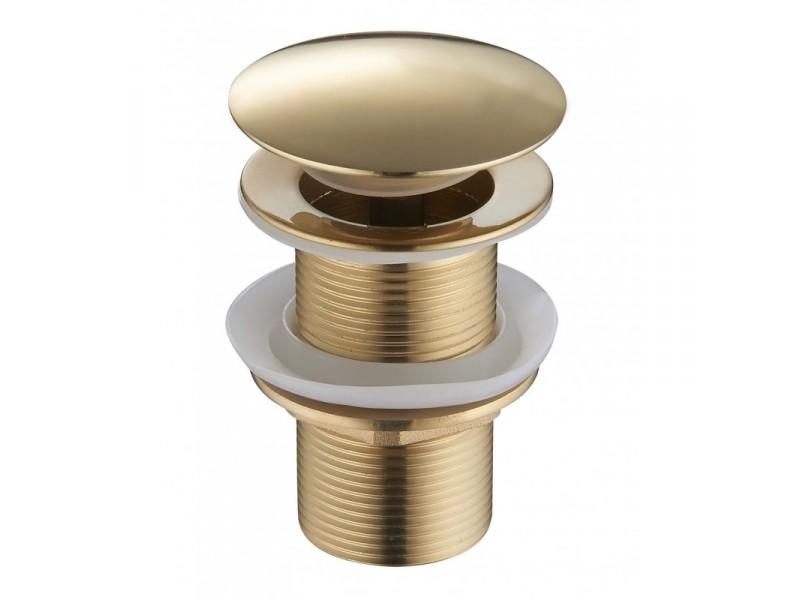 CLICK-CLACK Well výpusť bez přepadu zlatá