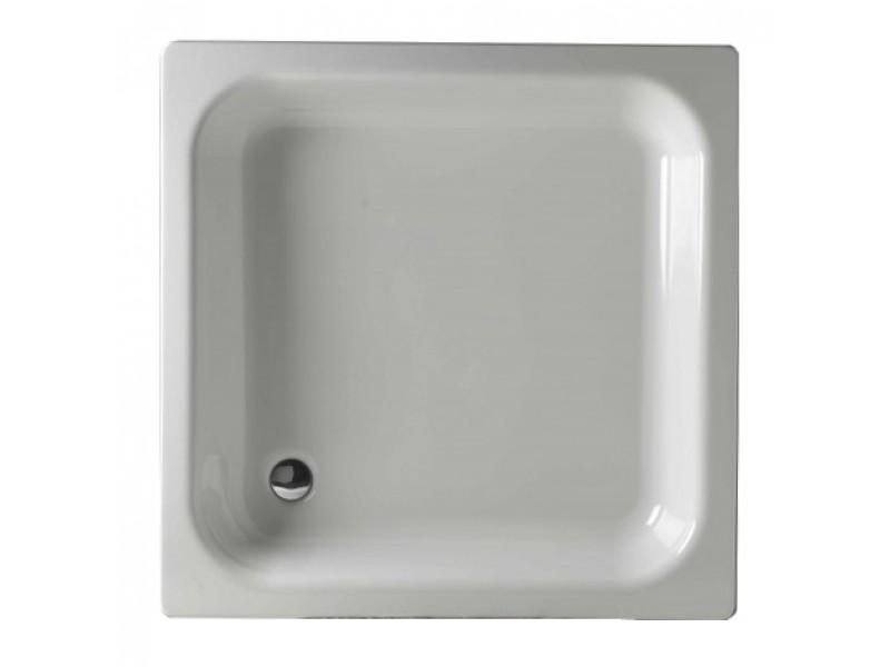 KITEN III 90 Olsen-Spa Smaltovaná plechová sprchová vanička, výška 14 cm