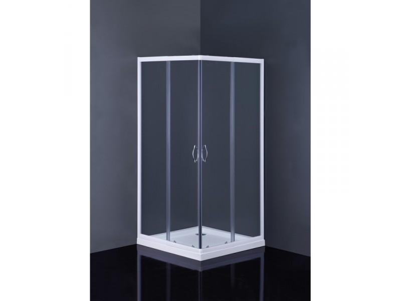Čtvercový sprchový set Linares+Aquarius Olsen-Spa, s akrylátovou vaničkou