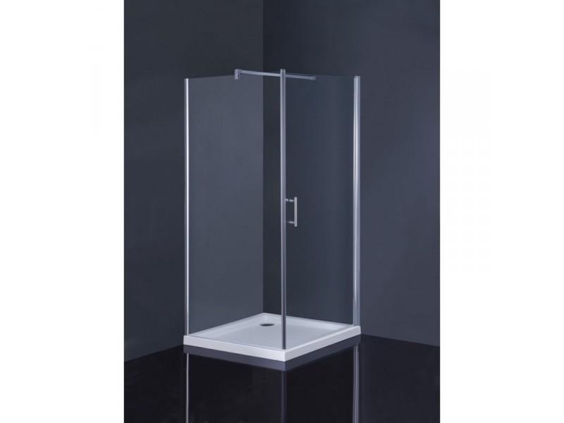 Čtvercový sprchový set Osuna+Burgas Olsen-Spa, s mramorovou vaničkou