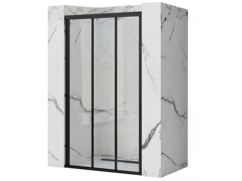 AXEL 81,5-91,5 Black Well Sprchové dveře trojdílné - posuvné