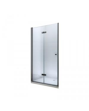 LUCIO Black 120 Clear Well Sprchové dveře