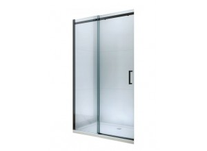 ORESTE 130 BLACK Clear Well Sprchové dveře do niky posuvné