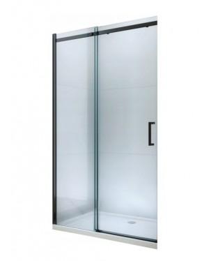 ORESTE 160 BLACK Clear Well Sprchové dveře do niky posuvné