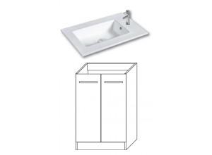 F-STANDARD-U55 Olsen-spa Skříňka s umyvadlem 55 cm, sokl, arusha wenge