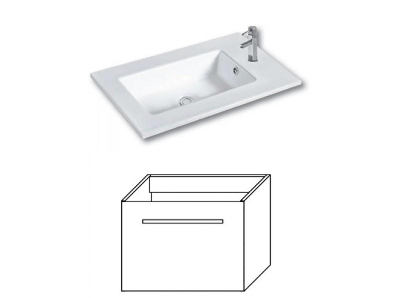 F-EXCLUSIVE-U55 Olsen-spa Skříňka s umyvadlem 55 cm, závěsná, bílá