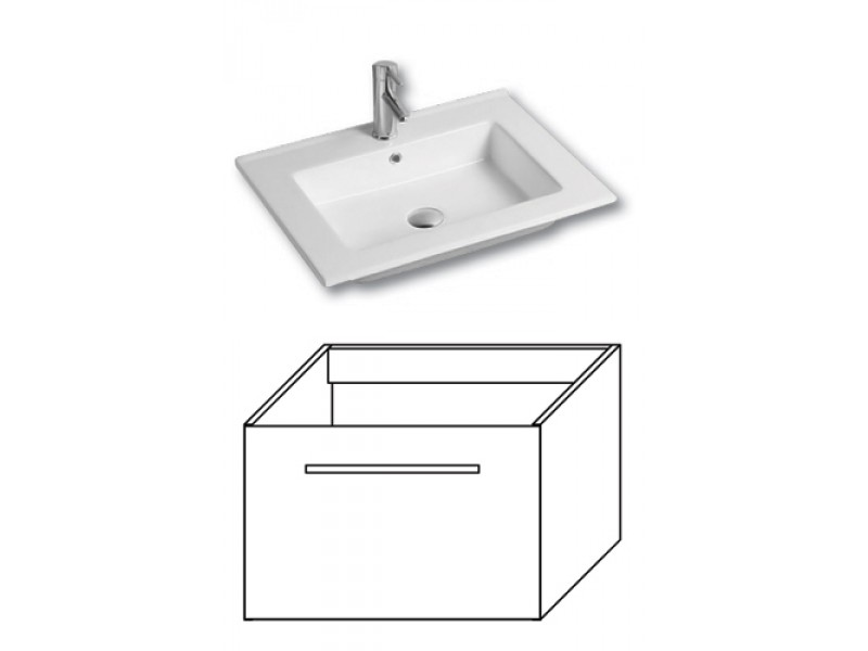 F-EXCLUSIVE-U60 Olsen-spa Skříňka s umyvadlem 60 cm, závěsná, arusha wenge