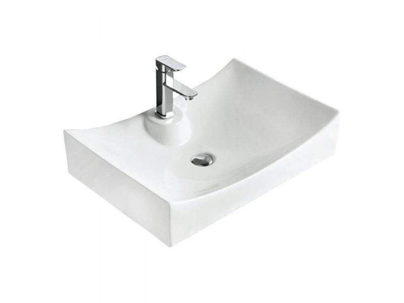 GISELA Well umyvadlo na desku 66 x 45 cm bílé