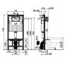 AM102+M70 Jádromodul AlcaPLAST kompletní instalační set