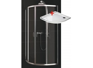 KATY 80 clear ROCKY Well sprchový kout s mramorovou vaničkou