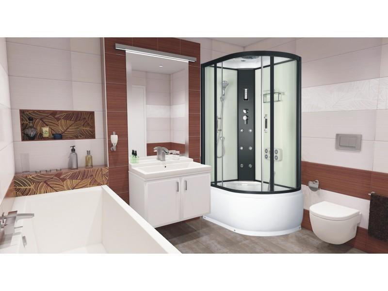 LORAIN 120x80 levá Well sprchový masážní box + sifon ZDARMA