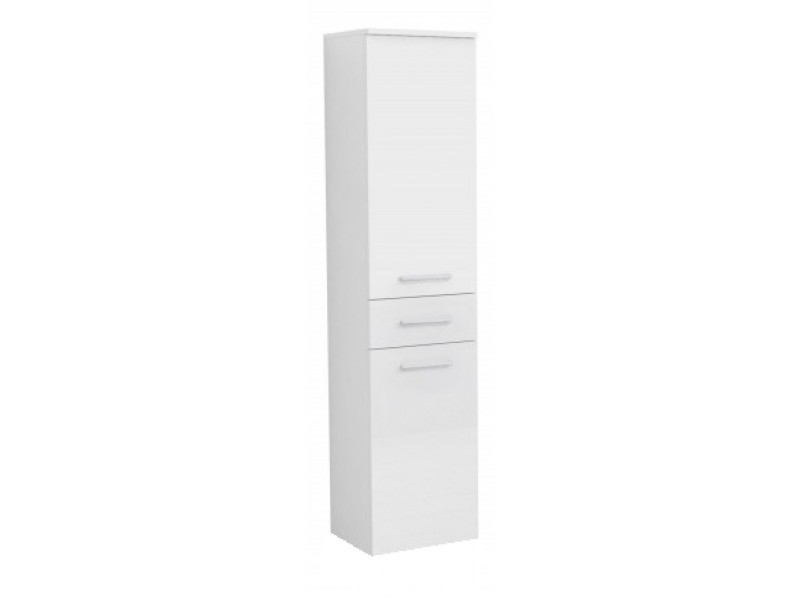 RINO B OlsenSpa Vysoká boční skříňka, 1x dvířka, 1x šuplík, 1x koš, pravé provedení