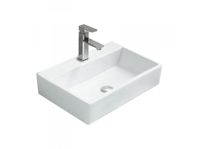 PERLA Well umyvadlo na desku 53 x 36 cm bílé