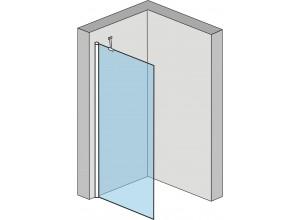 Alfa 100 Clear Well Pevná stěna ke sprchovým dveřím Alfa
