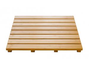 Rošt koupelnový, čtvercový, 100% bambus, přírodní barva 52 × 52 cm