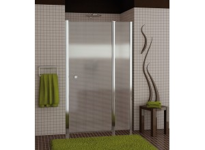 SL13 1000 50 30 SanSwiss Sprchové dveře jednokřídlé s pevnou stěnou 100 cm