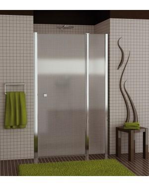 SL13 0900 50 30 SanSwiss Sprchové dveře jednokřídlé s pevnou stěnou 90 cm