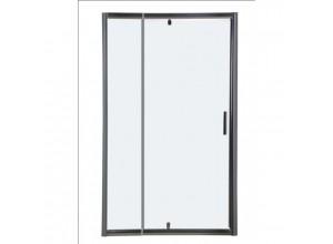 Sprchové dveře MUNERA - 80,5-97 x 190 cm, Hliník bílý, 5mm čiré