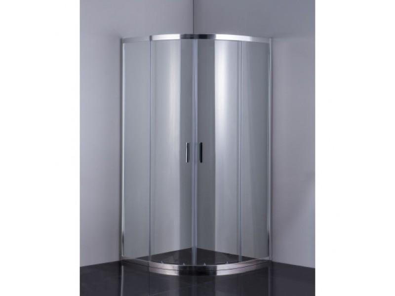 Sprchový kout BARCELONA PLUS - 900 × 900 × 1900 mm, Bez vaničky, Hliník chrom, 6mm čiré