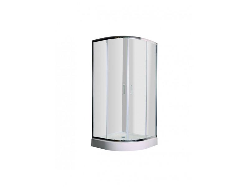 DOBRAO 90 Clear Well Čtvrtkruhový sprchový kout s vaničkou