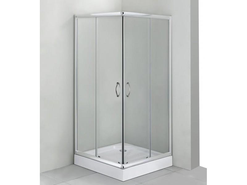 FUNY Q 90 Clear CORN Well Sprchový kout s vaničkou