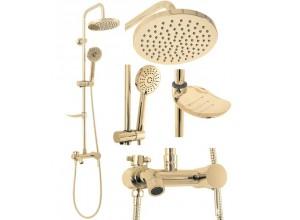LORRAIN Gold Well Sprchový set s baterií a mýdlenkou