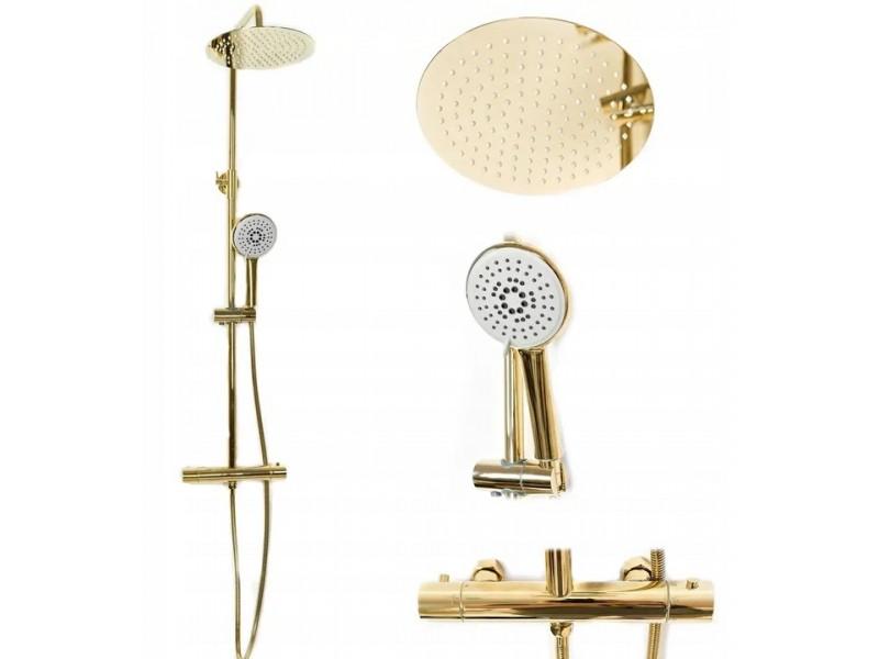 VALENTIN Gold Well Sprchový set s termostatickou baterií