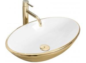 PROS gold+white Well Umyvadlo na desku oválné