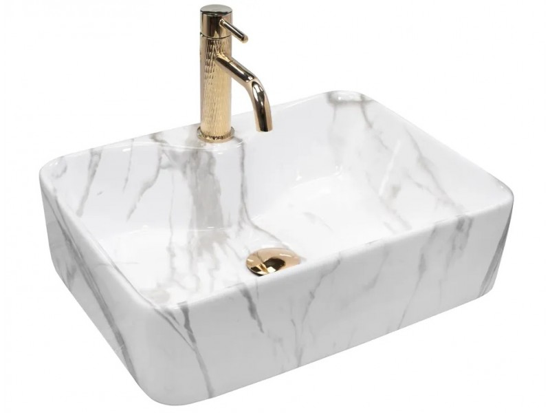 KEVIN marmo Well Umyvadlo na desku - obdélník