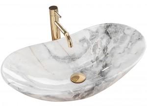 ROGER marmo Well Umyvadlo na skříňku oválné