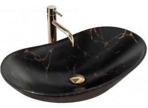 ROGER marmo black Well Umyvadlo na skříňku oválné, mat
