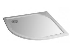 STONE Liten 88,5 x 88,5 cm Sprchová vanička čtvrtkruhová - levý odpad