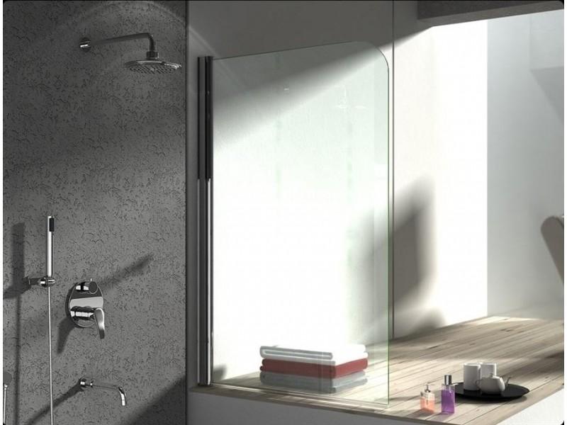 JET 1 Chrom Grape 75 x 137,5 cm Well Vanová zástěna, levá