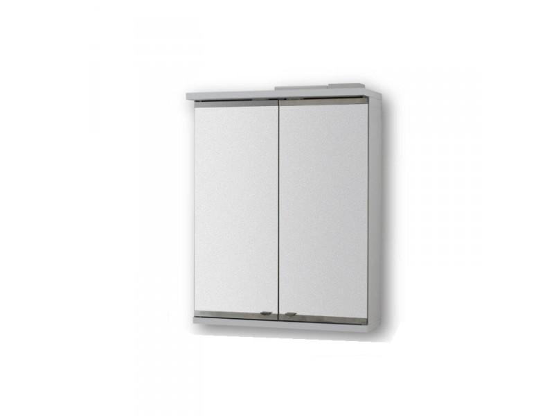 Vrchní zrcadlová skříňka NICE s LED osvětlením - 50 × 64 ×15 cm