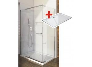 HANNAH ROCKY 100 x 80 cm Well Luxusní obdélníková sprchová zástěna