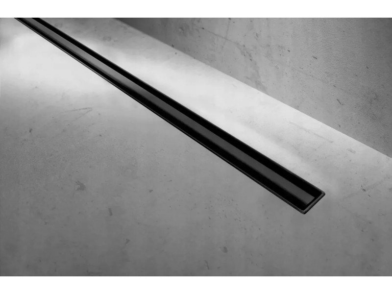 S-900 BLACK Well Sprchový odtokový podlahový žlab