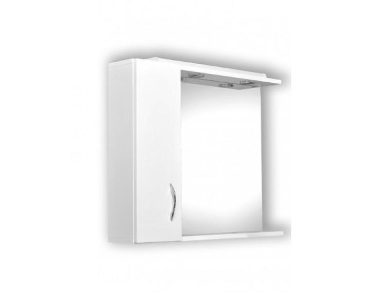 HELIOS 75 Olsen-Spa Zrcadlo s osvětlením + skříňka, levé provedení