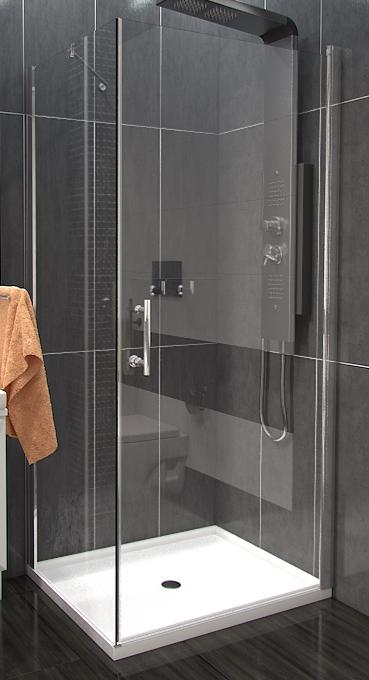 Well ALFA COMBI 80 x 80 cm Clear W53383 Luxusní čtvercová sprchová zástěna