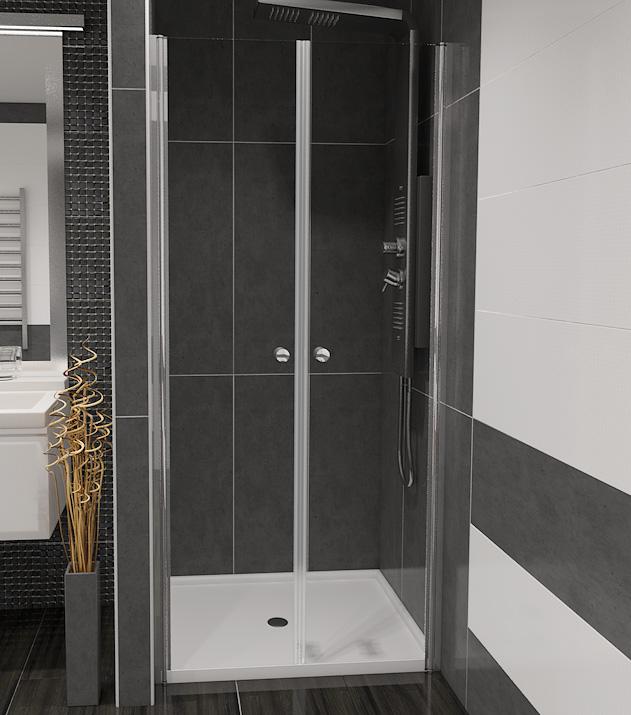 Well BETA 90 Čiré W49624 Sprchové dveře do niky dvoukřídlé