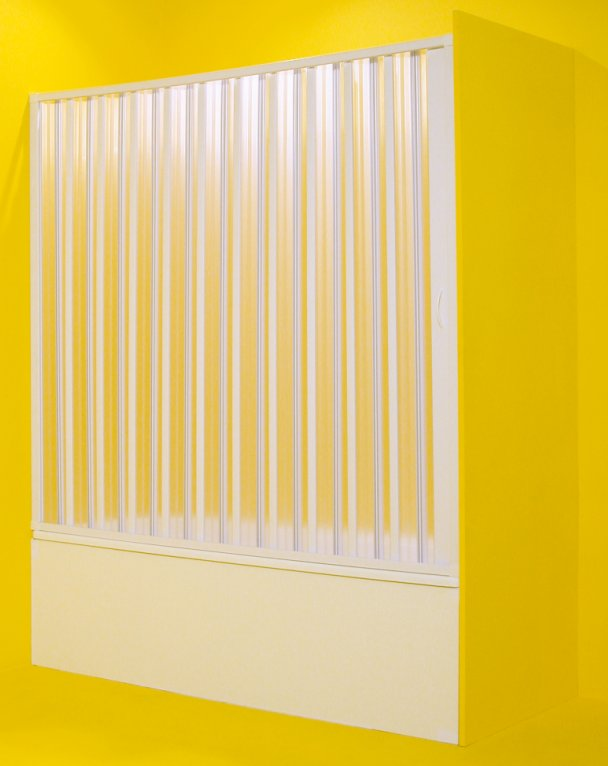 Olsen SPA Vasca Marte vanová zástěna 170 - 140 x 150 cm, polystyrol, bílý rám, shrnování na stranu – 1115-1