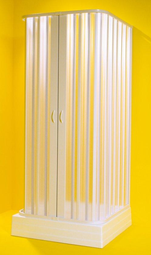 SATURNO 100-80 × 100-80 × 100-80 × 185 cm Olsen-Spa sprchová zástěna