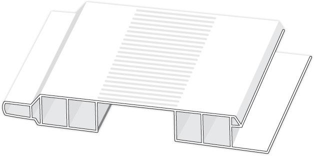 D410601 Hopa Ventilační profil venkovní 01 bílá 3m