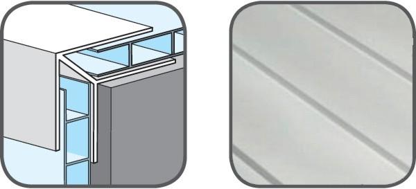 Hopa Venkovní rohový profil 01 bílá 3m
