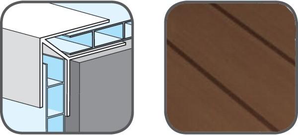 Hopa Venkovní rohový profil 07 tmavé dřevo 3m