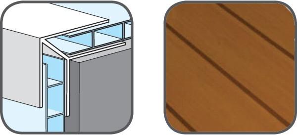 Hopa Venkovní rohový profil 08 světlé dřevo 3m